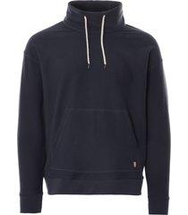 armor lux patterson heritage mock neck sweatshirt | rich navy | 78494-d85
