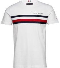 global stripe tee t-shirts short-sleeved vit tommy hilfiger
