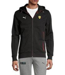 puma ferrari men's zip-up hoodie - black - size s
