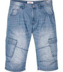 bermuda di jeans sostenibili in lino e tencel™ regular fit (blu) - john baner jeanswear