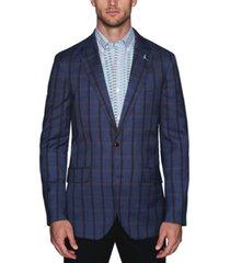 tailorbyrd men's stretch windowpane plaid sport coat