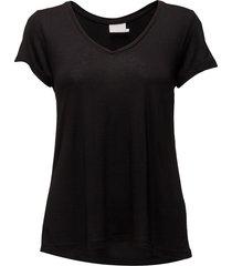 anna v-neck t-shirt t-shirts & tops short-sleeved svart kaffe