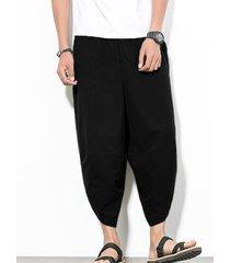 hombres nepal estilo casual entrepierna de baja caída loose fit harem baggy capri bloomers pantalones