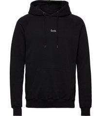 bison hoodie hoodie trui zwart forét