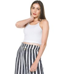 crop top blanco active