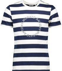 antony morato t-shirt slimfit refective printed avio blue 7064