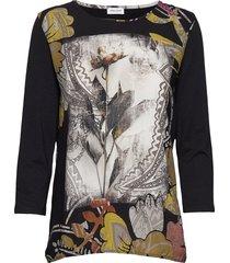 t-shirt 3/4-sleeve r blouse lange mouwen zwart gerry weber