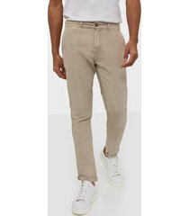 solid jim lux linen pants byxor taupe