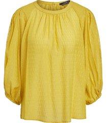 blouse met print ines  geel