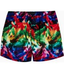 mens multicolored tie dye swim shorts