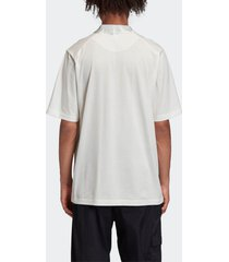 y-3 men's classic polo shirt - core white - xxl