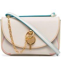 jw anderson midi keyts shoulder bag - white