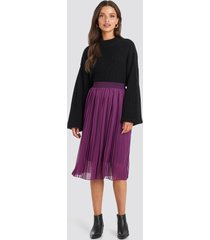 na-kd midi pleated skirt - purple