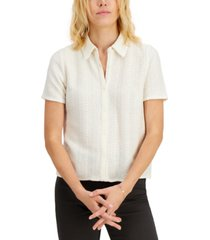 alfani textured collared button-up shirt, created for macy's
