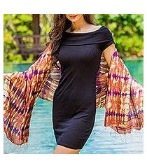 silk shawl, 'river sands' (thailand)