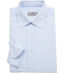 canali men's modern-fit striped shirt - light blue - size 45 (17.75)