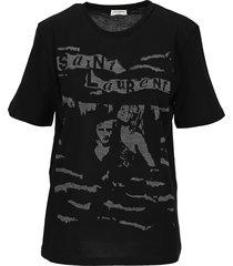 saint laurent jacquard t-shirt