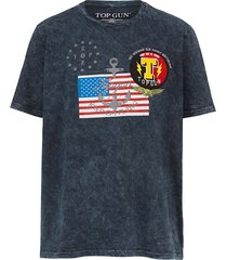 t-shirt top gun zwart