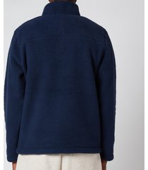 polo ralph lauren men's vintage fleece mockneck sweatshirt - cruise navy - xxl