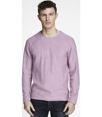 sweater jack & jones slub morado - calce regular