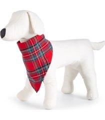 matching pet brinkley plaid family pajamas bandana, created for macy's