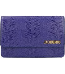 jacquemus le riviera leather crossbody bag
