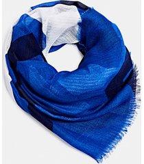 bufanda cuadros reciclado azul esprit