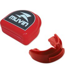 protetor bucal duplo muvin profissional vermelho
