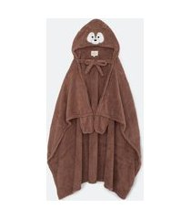 robe cobertor coral fleece | lov | marrom | u