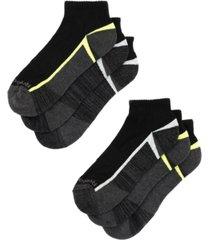 men's quarter socks, pack of 6