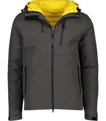 ecoalf katmandu jacket antraciet geel