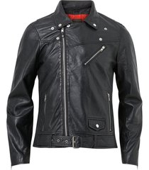 skinnjacka brice belted leather jacket