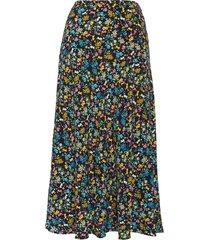 women's sanctuary fuller floral skirt, size small - black