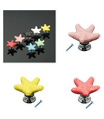 3pcs starfish criativo mobiliário gaveta do armário maçaneta da porta puxador