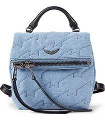 romy quilted denim backpack