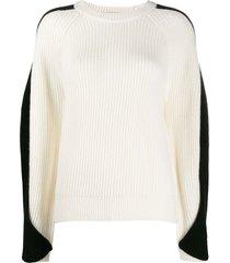 lala berlin twisted sleeve sweater - white