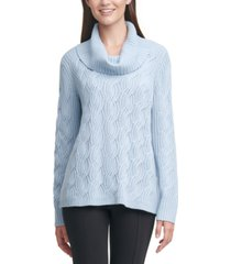 calvin klein chain-stitched cowlneck sweater