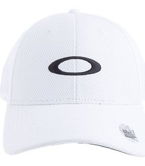 gorra blanco oakley golf ellipse hat