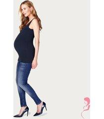 noppies zwangerschapstop positietop amsterdam naadloos donker blauw
