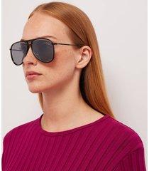 saint laurent women's classic aviator sunglasses - black/silver