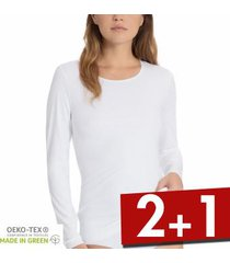 calida natural luxe long sleeved top