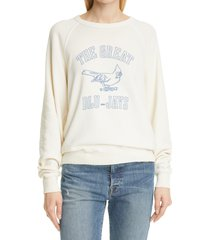 women's the great. the college sweatshirt, size 0 - white