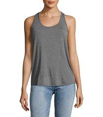 body language women's roe tank top - grey - size xs