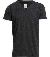 mens stretch v-neck tee s/s t-shirts short-sleeved grå lindbergh