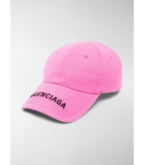 balenciaga logo-embroidered cotton cap