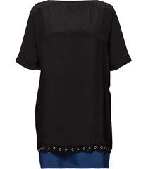 d-dara dress korte jurk zwart diesel women