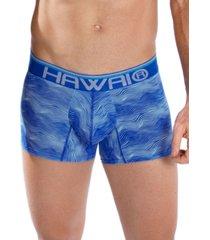 bóxer corto hawai azul rey