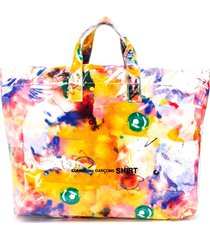 comme des garçons shirt abstract-print tote bag - yellow