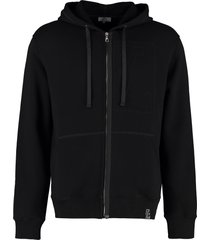 lanvin embroidered cotton hoodie