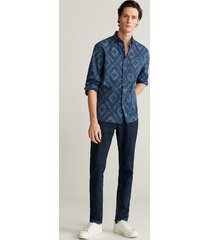 bedrukt regular-fit overhemd
